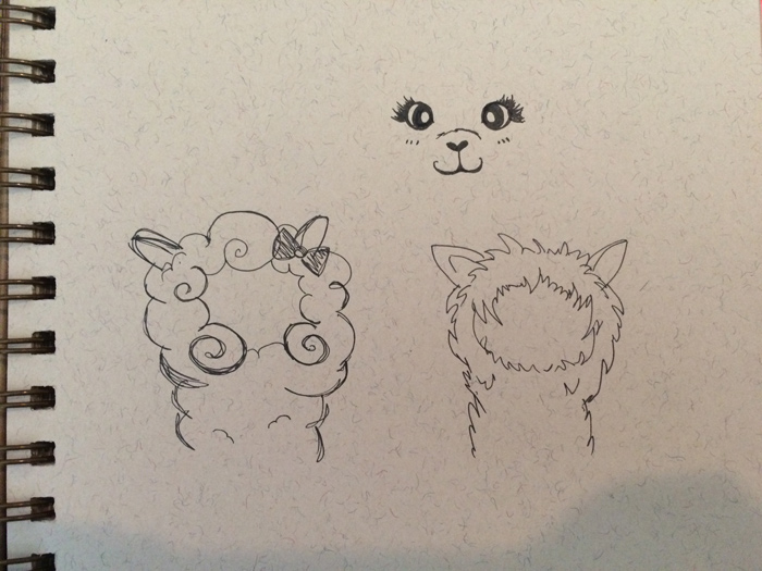 Alpaca drawing