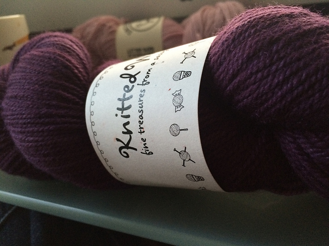Polwarth Shimmer in the Plump colorway by Knitted Wit
