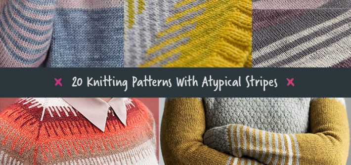 20 Knitting Patterns With Atypical Stripes