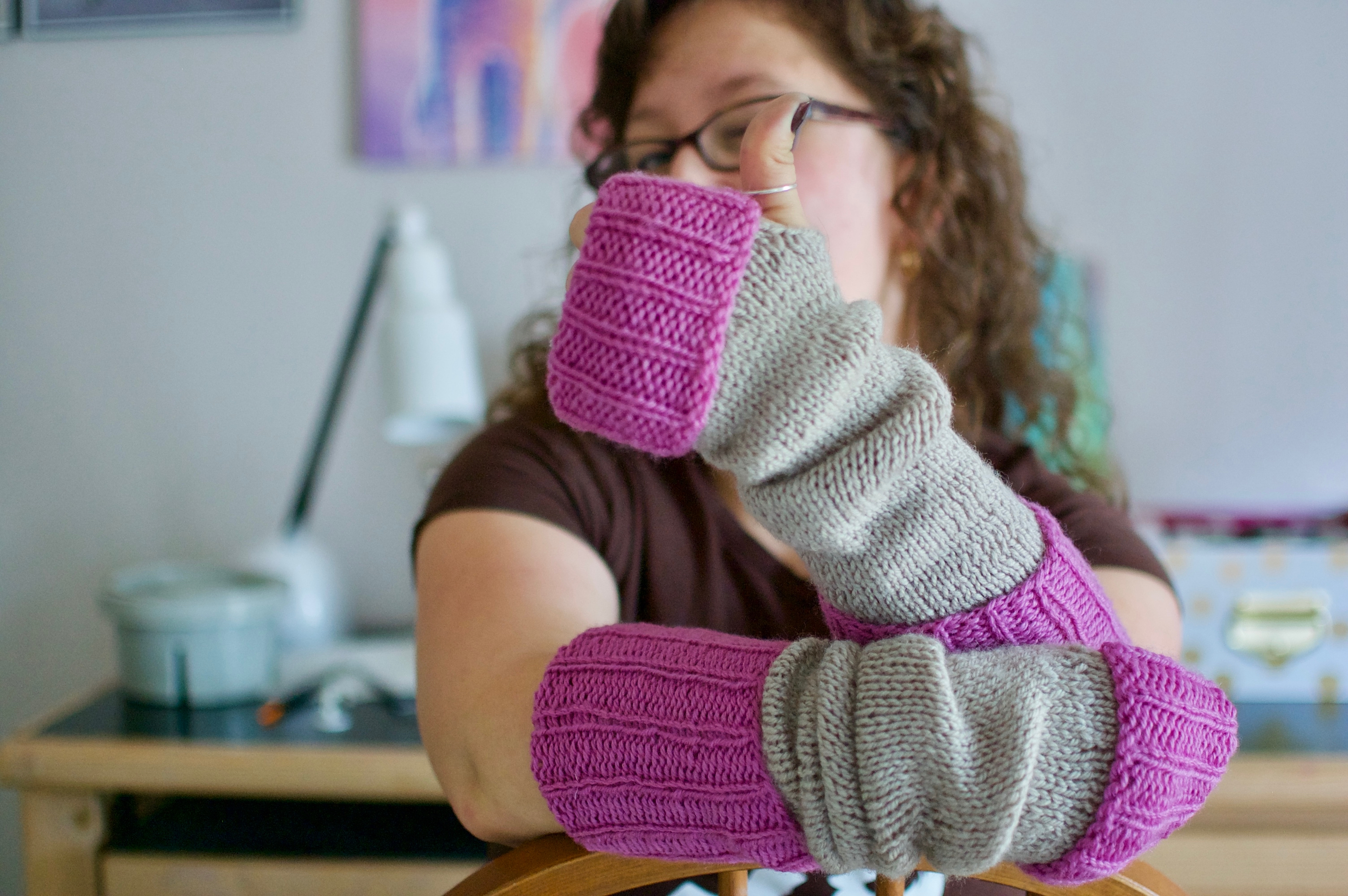 Free Knitted Armwarmer Pattern